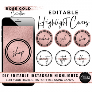 DIY Rose Gold Pink Instagram Story Covers