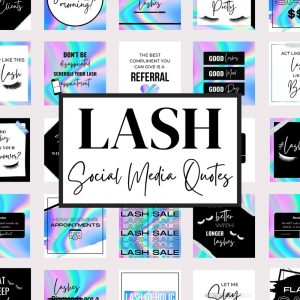 Eyelash Quotes for Social Media (Holographic)