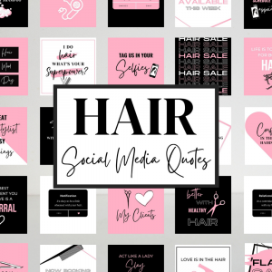 Hair Quotes for Social Media (Pink and Black)