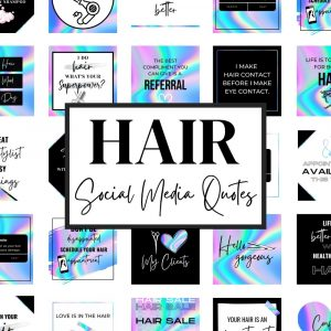 Hairstylist Quotes for Social Media (Holographic)