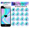 Holographic Instagram Story Covers