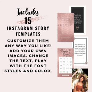 Story Templates for Instagram Rose Gold