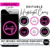 DIY Neon Pink Instagram Story Covers